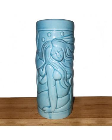 Vaso Tiki Blue Mermaid 14 Oz.