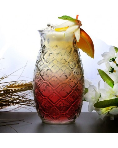 Tiki Pineapple Glass