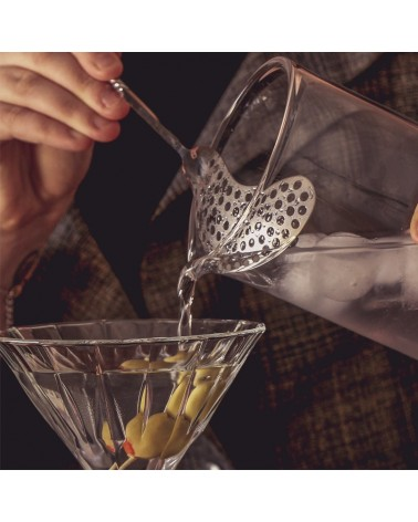 Vintage Bar Spoon with Strainer