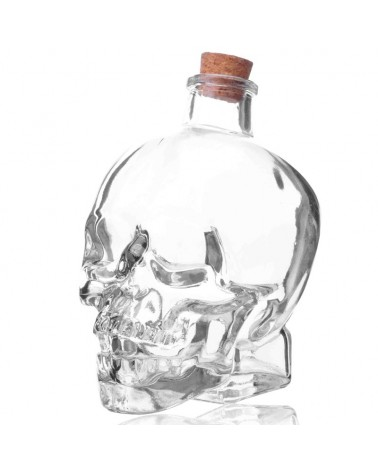 Skull Bottle - calabera 12 oz. vidrio