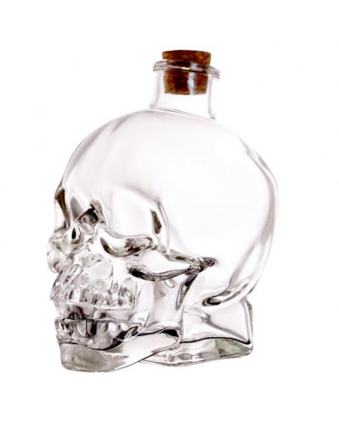 Skull Bottle - calabera 12 oz. vidrio