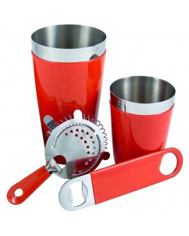 Set Bartender con goma color Rojo.