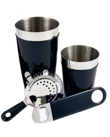 Set Bartender con goma color Negro