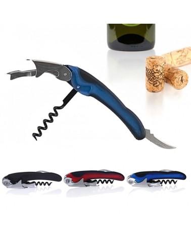 Descorchador de vinos 2 tiempos especial Azul