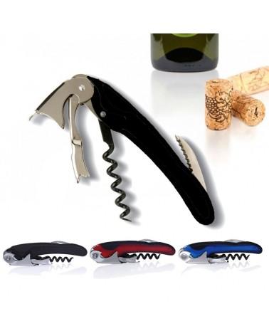 Descorchador de vinos 2 tiempos especial color Negro