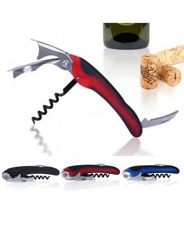 Descorchador de vinos 2 tiempos especial Color Rojo