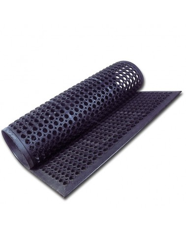 Piso de goma lineal 90 cm x 150 cm. negro