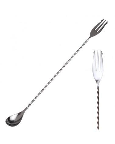 Premium Trident Bar Spoon 31,5 cm Silver